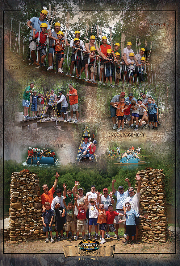 Y Guides Overnight Adventure Poster at Xtreeme Challenge in Monroe North Carolina