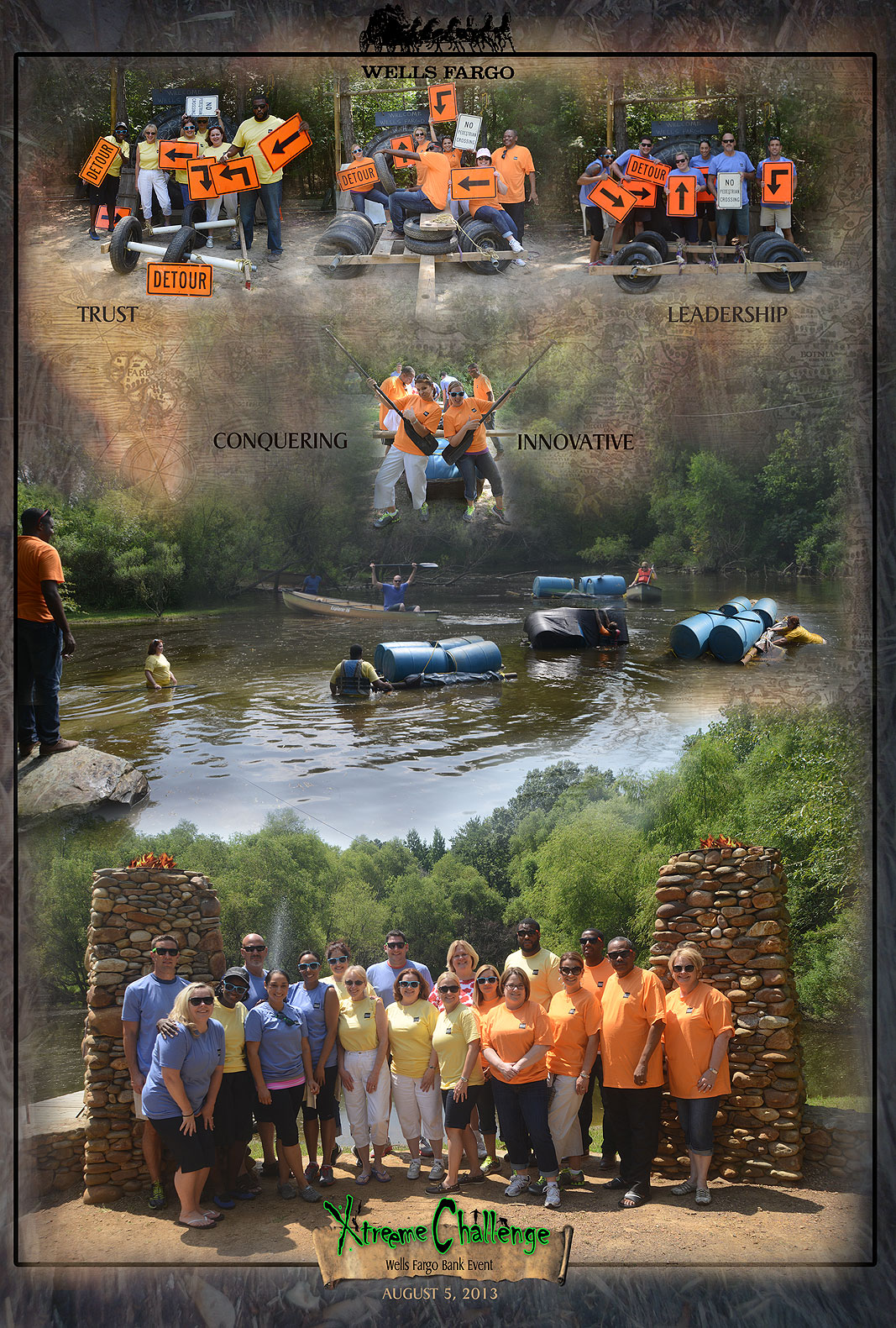 Wells Fargo Bank Team Building at Xtreeme Challenge in Charlotte North Carolina
