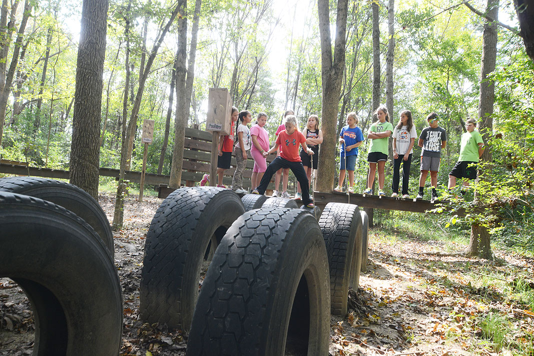 Balls Creek PE Club at Xtreeme Challenge Educational Field Trip Center in Monroe North Carolina