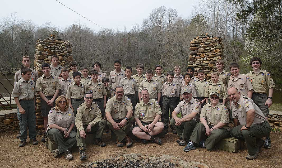 Boy Scout Troop 10 at Xtreeme Challenge Team Building Center Charlotte