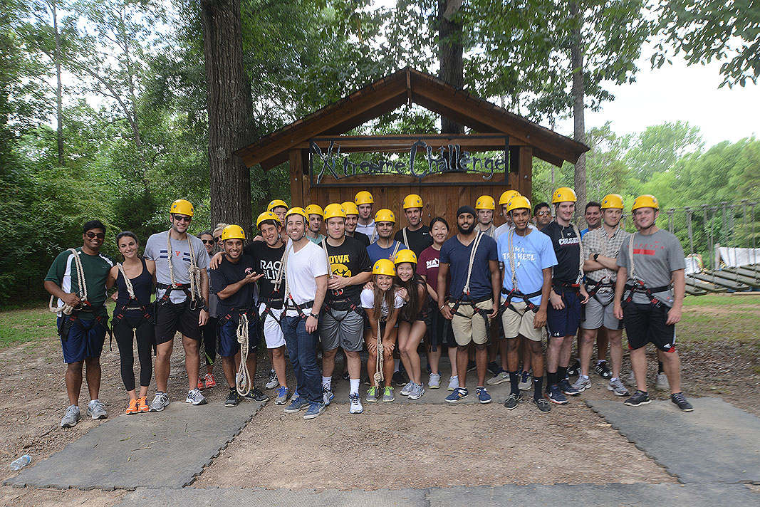 Wells Fargo Bank Gold Analysts at Xtreeme Challenge Team Building Center in Charlotte North Carolina