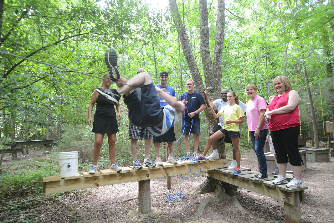 Rainbow International Restoration at Xtreeme Challenge Outdoor Adventure Team Building Center in Monroe North Carolina