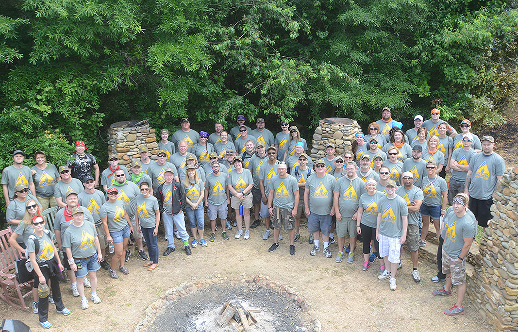 Apple Rock at Xtreeme Chalenge Outdoor Adventure Team Building Center in Charlotte North Carolina