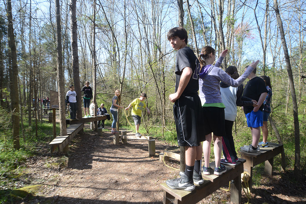 Porter Ridge Middle School 7th Grade Class Educational Fiedl Trip to Xtreeme Challenge in Monroe North Carolina