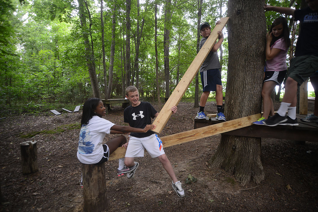 Charlotte Christian School at Xtreeme Challenge Team Building Center in Monroe North Carolina