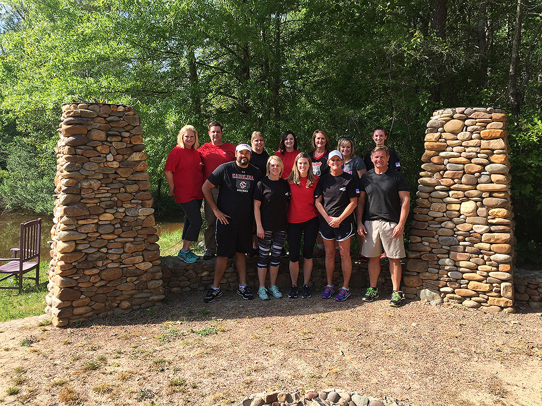 Red Classic HR Team at Xtreeme Challenge Team Building Center in Monroe North Carolina