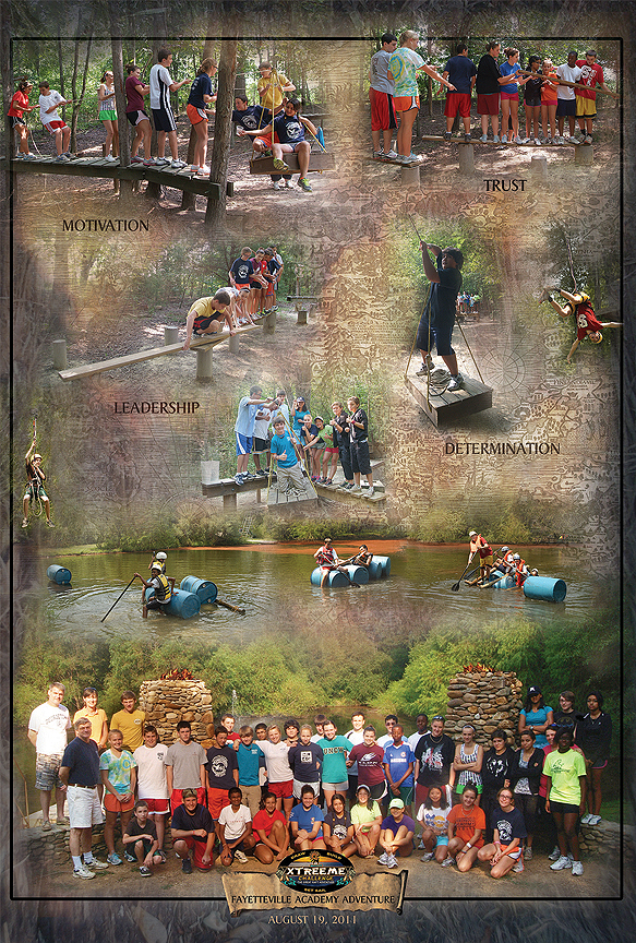 Fayetteville Acadmey Outdoor Adventure Poster at Xtreeme Challenge in Monroe NC