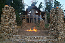 Xtreeme Challenge Lodge and Fire Circle sits over looking a lake and 17 acres of Team Building Excitement in Charlotte North Carolina
