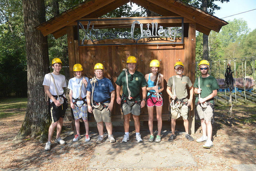 Florence Career Center at Xtreeme Challenge Team Building Center in Monroe North Carlina
