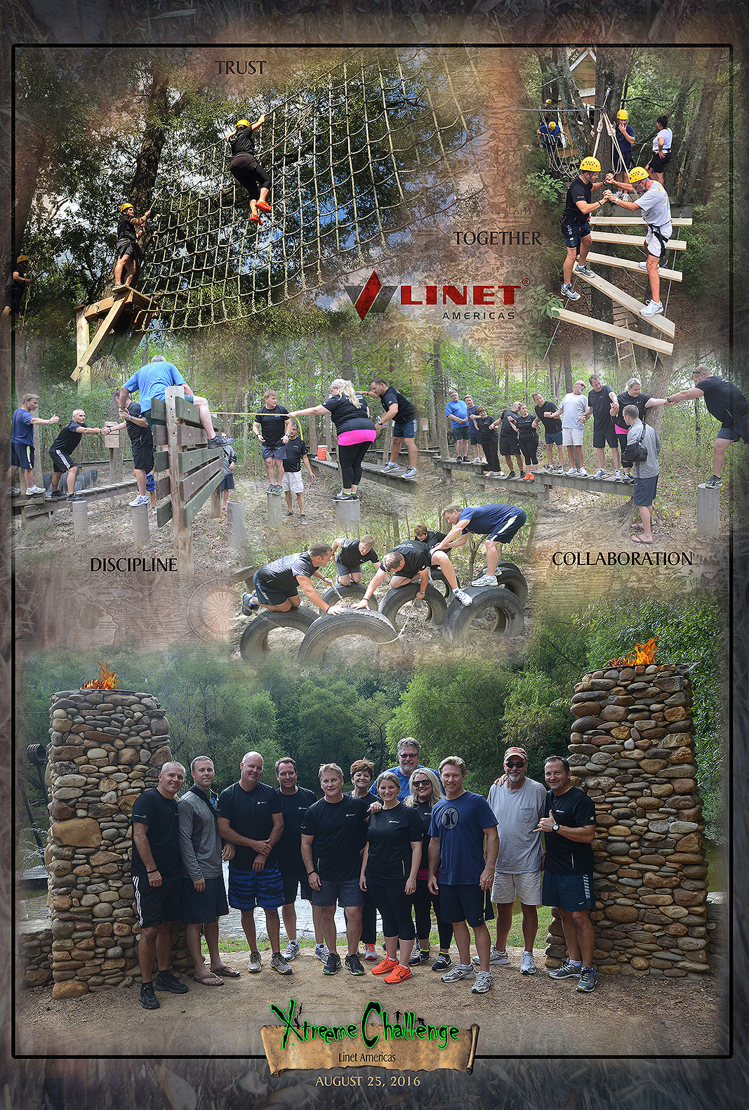 Linet Americas at Xtreeme Challenge Outdoor Adventure Team Building Center in Charlotte North Carolina