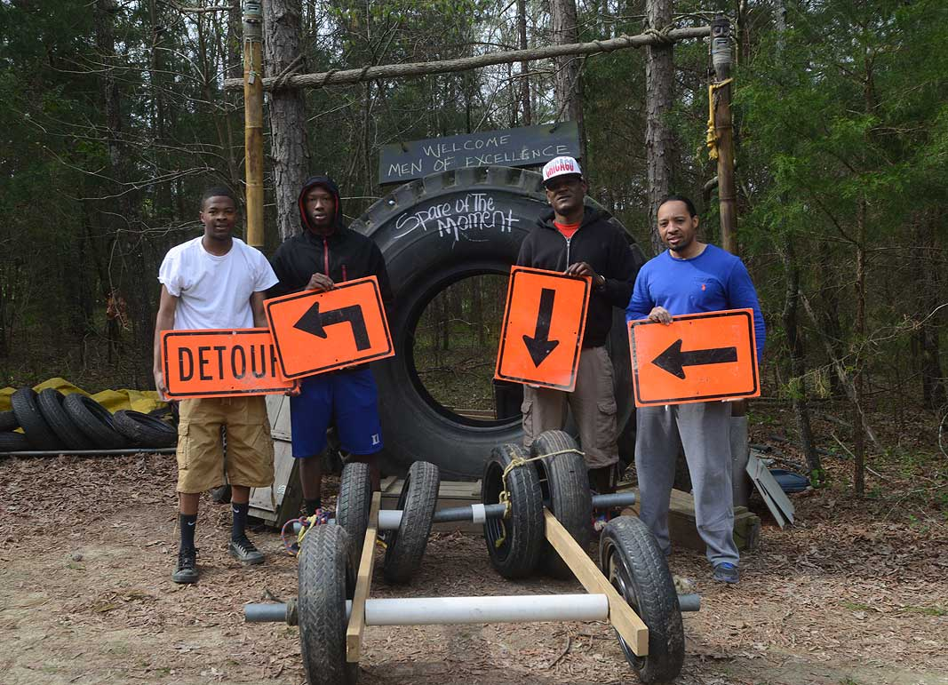 Men of Excellence at Xtreeme Challenge Team Building Center in Charlotte North Carolina