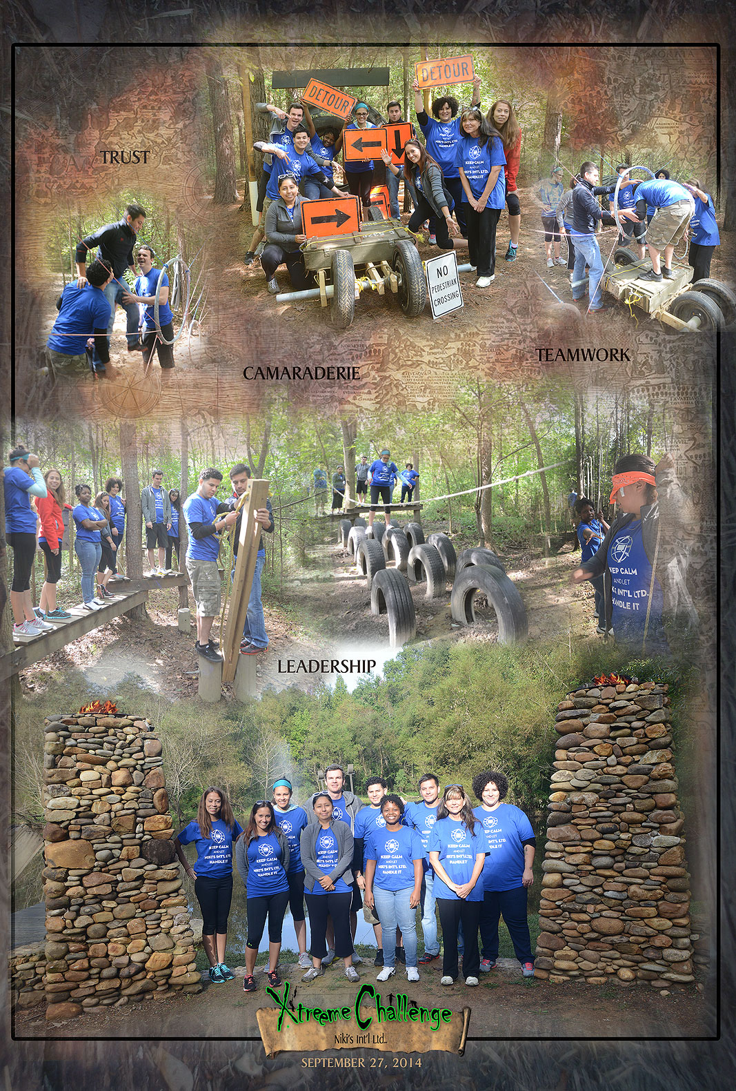 Niki's International LTD at Xtreeme Challenge Team Building Center in Monroe NC