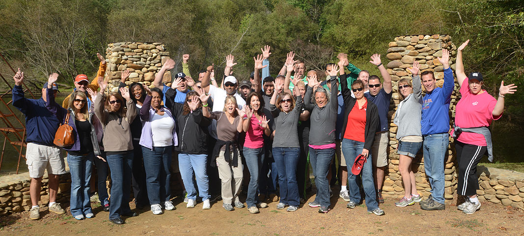Office Depot Team Building Program at Xtreeme Challenge Outdoor Adventure Center in Monroe North Carolina