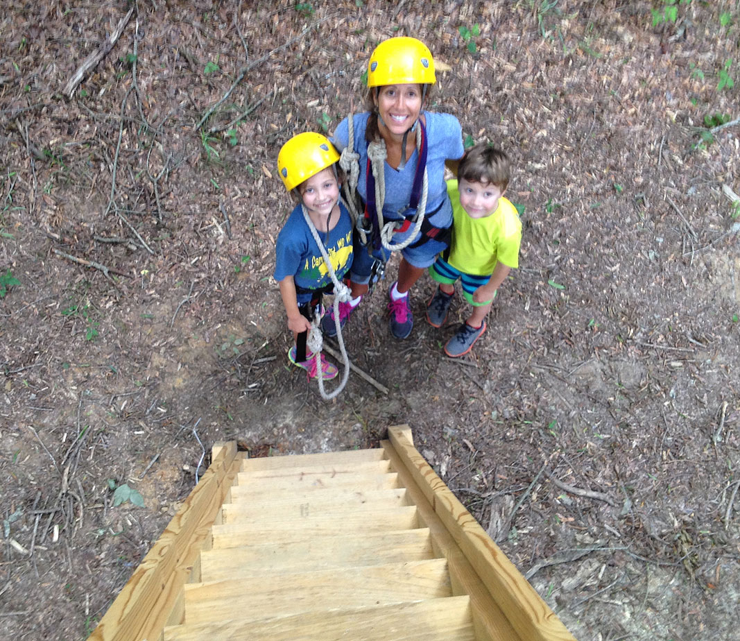Patty and Kids at Xtreeme Challenge Outdoor Adventure Center in Charlotte North Carolina