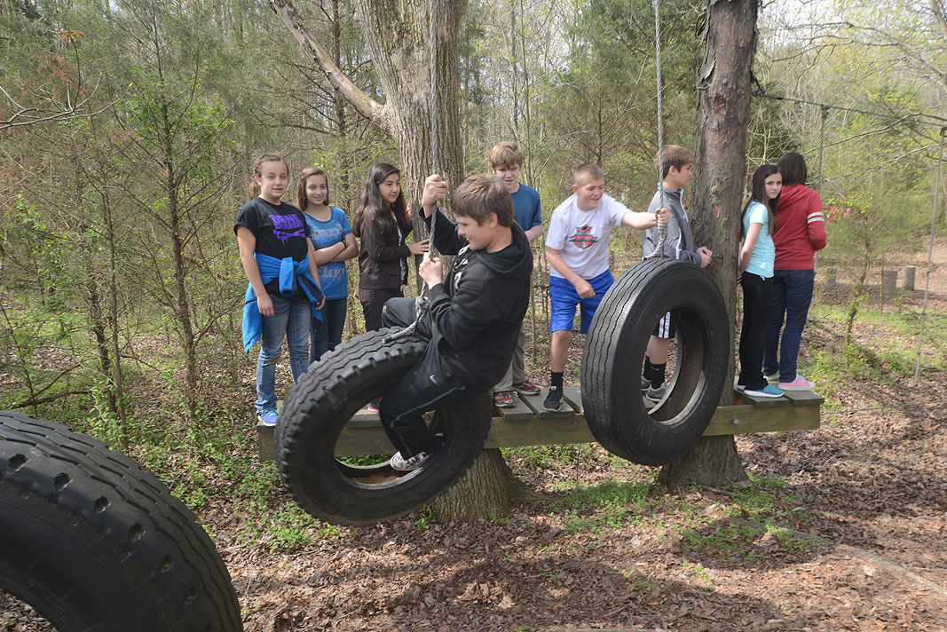 7th grade class of Porter Ridge Middle School on an Educational Field Trip to Xtreeme Challenge in Monroe NC