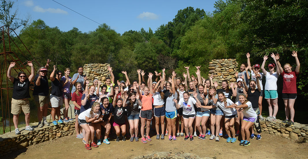 SC Equestrian Team at Xtreeme Challenge Outdoor Adventure Team Building Center in Charlotte North Carolina