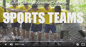Sports teams developing leadership, trust and unity at Xtreeme Challenge in Monroe North Carolina