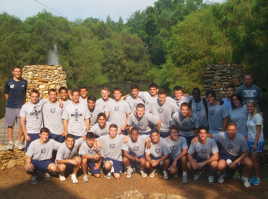 Wingate Soccer Team at Xtreeme Challenge Team Buildling center